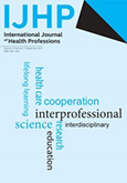 Cover International Journal of Health Professions