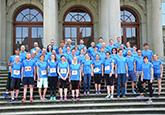 Gruppenfoto ZHAW am Winterthur Marathon