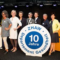 Gruppenfoto der Departememtsleitung ZHAW Gesundheit