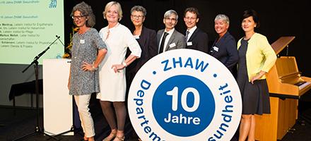 Gruppenfoto der Departementsleitung ZHAW Geundheit