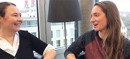 Martina Bisig und Swantje Jürgensen, Studentinnen MSc Hebamme